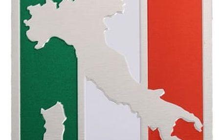 Hliníková samolepka s nápisem ITALY