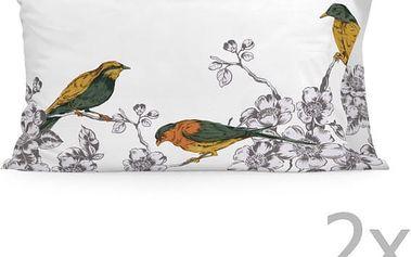 Sada 2 povlaků na polštář Happy Friday Spring Bird Printed,50x80cm - doprava zdarma!