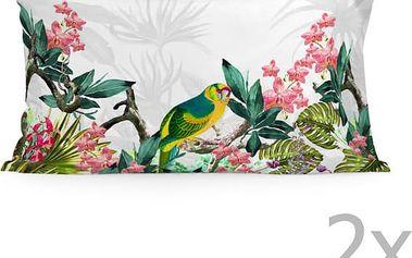 Sada 2 povlaků na polštář Happy Friday Tropic printed,50x80cm - doprava zdarma!