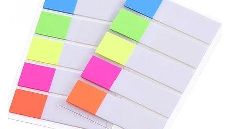 Barevná rozdělovací lepítka - 200 kusů