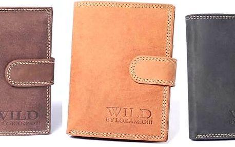 Luxusní pánská kožená peněženka ve třech barvách, materiál broušená kůže, luxusní a originální vzhled. Skvělý pánský doplněk pro každého muže.