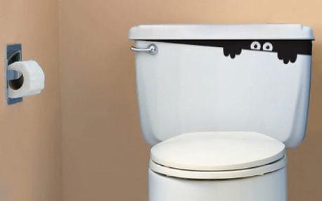 Dekorativní samolepka na záchod - VÝPRODEJ!