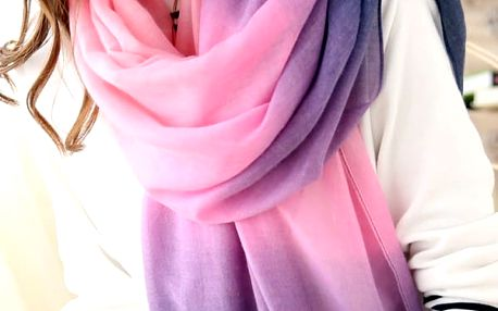Šátek v duhových barvách - fialová - dodání do 2 dnů