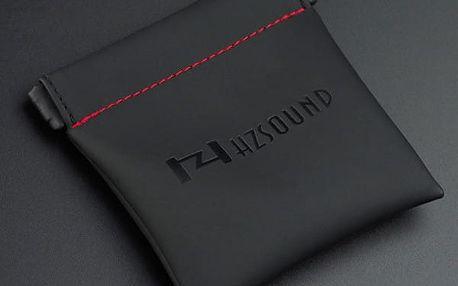 Praktický koženkový obal na sluchátka v černé barvě