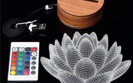 Unikátní 3D USB stolní lampa na dálkové ovládání