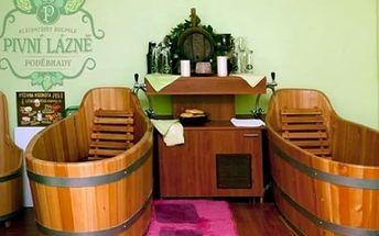 Wellness pobyt pro dva v Poděbradech. Pivní koupele, zábaly na ruce, masáže a další.