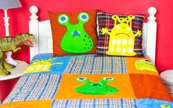 Zkrášlí pokojíky vašich dětí: Přehoz, závěsy a polštářky s milými motivy