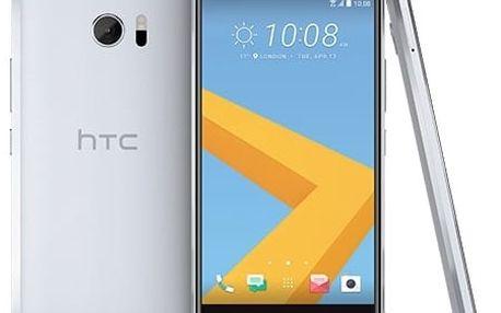 Mobilní telefon HTC 10 - glacier silver (99HAJH017-00)