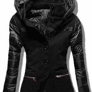 Dámský kabát Alecta černý AKCE