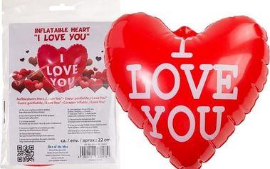 Nafukovací srdce s nápisem 22 cm