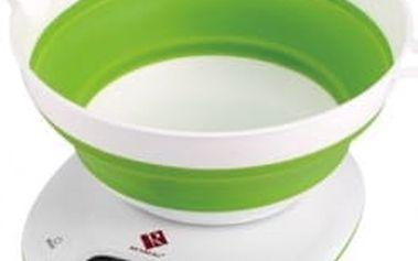 Váha kuchyňská digitální 5 kg, zelená/bílá RENBERG RB-5603zele