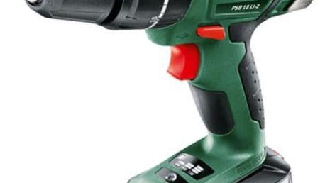 Aku vrtačka Bosch PSB 18 LI-2 (1 aku, 2,5 Ah) zelená