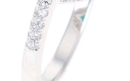 Fashion Icon Prsten stříbro oválný se zirkony