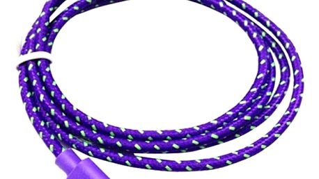 Pletený nylonový micro USB kabel – různé barvy