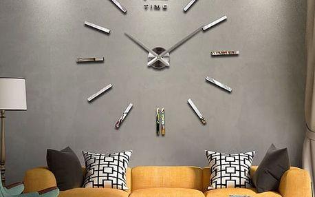 Samolepicí zrcadlové 3D hodiny na stěnu
