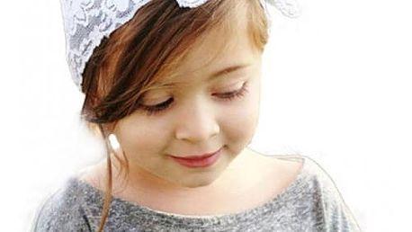 Krajka do vlasů pro holčičky - více barev