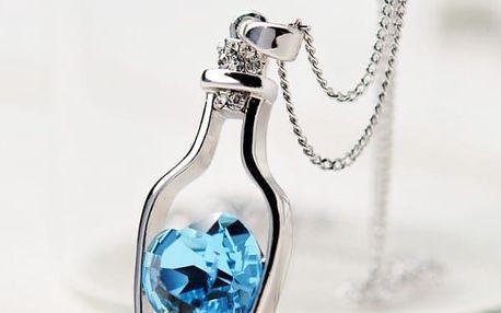 Řetízek s přívěškem Srdce v láhvi