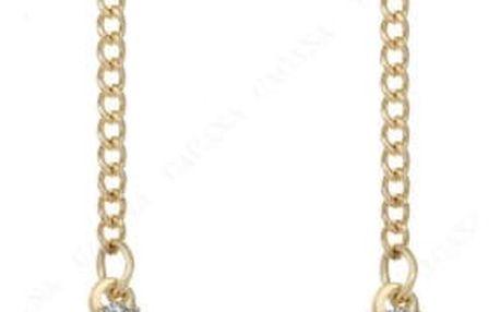 Dlouhé náušnice s křížem - 2 barvy