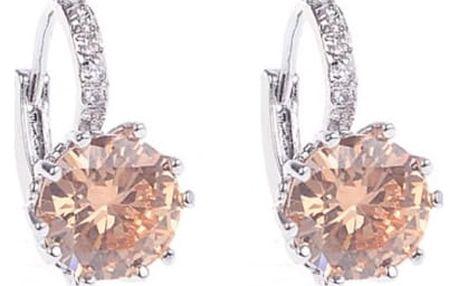 Náušnice s extravagantním kamínkem - 5 barev
