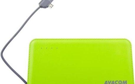 Power Bank Avacom 6000mAh (PWRB-6000G) zelená barva