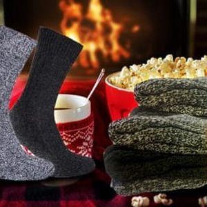 Hřejivé ponožky z ovčí vlny pro muže i ženy