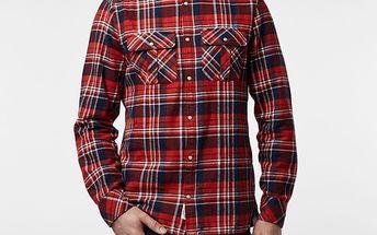 Košile O´Neill LM VIOLATOR FLANNEL SHIRT L Červená