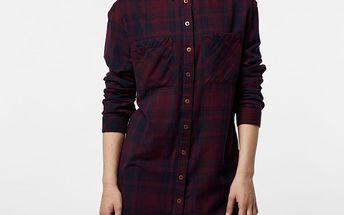 Košile O´Neill LW TRAVELLER SHIRT LONG M Červená
