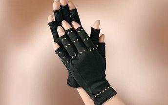 Měděné kompresní zdravotní rukavice proti artritidě