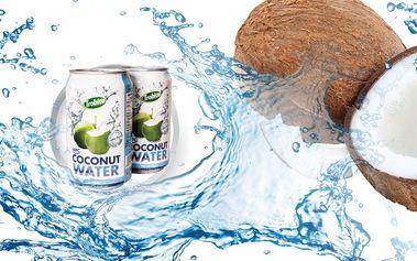 Přírodní kokosová voda Trobico - 24 plechovek s doručením zdarma