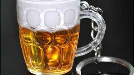 Veselý přívěsek na klíče Pivo