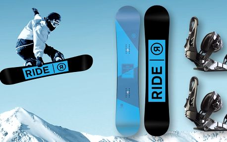 Freestylový snowboard RIDE včetně vázání