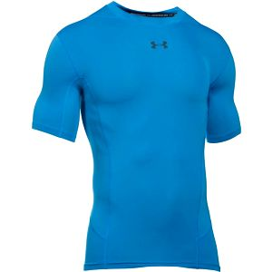 Kompresní tričko Under Armour Heatgear Supervent SS T M Modrá