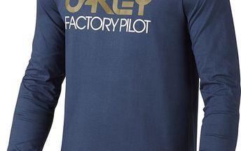 Tričko Oakley FP LOGO L/S TEE M Modrá