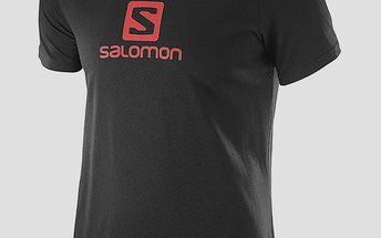Tričko Salomon LOGO SS COTTON TEE M BLACK M Černá