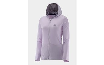 Bunda Salomon COMET HOODIE W Blush Purple L Šedá