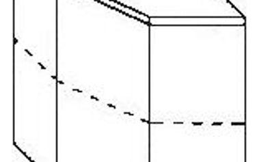 Rohová horní skříňka margaret wrd 59/59, 59/59/72 cm