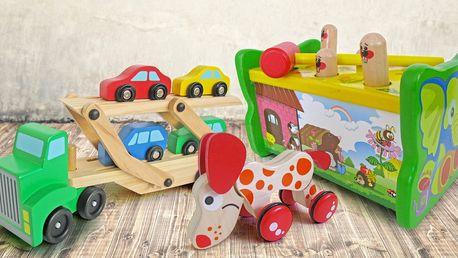Dřevěné hračky pro rozvoj jemné motoriky
