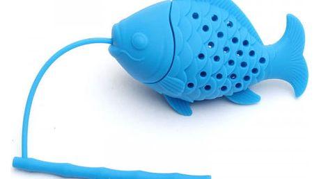 Čajové sítko v podobě rybky - modrá - dodání do 2 dnů