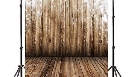 Ateliérové fotopozadí 100 x 150 cm - Dřevěná podlaha a stěna