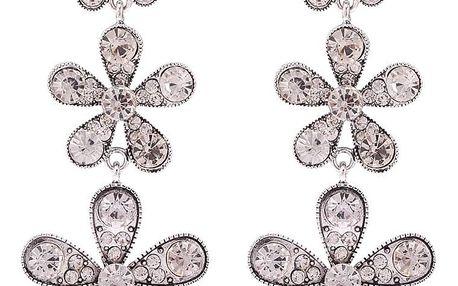 Fashion Icon Náušnice visací kytičky s krystaly