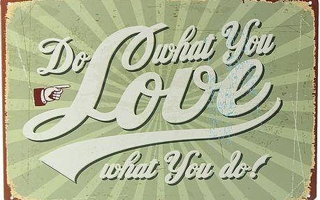Cedule v retro stylu s motivačním nápisem