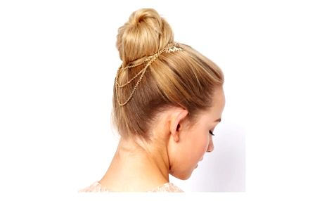 Ozdobné hřebínky do vlasů s řetízkem - 3 varianty