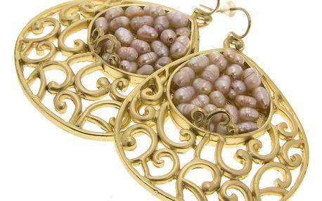 Fashion Icon Náušnice visací kapky s korálky