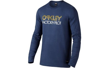 Tričko Oakley FP LOGO L/S TEE L Modrá