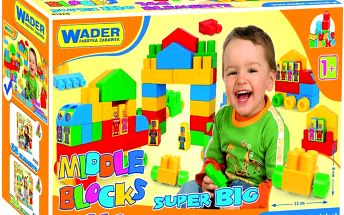 WADER Kostky stavebnice Middle Block Super Big plast 140 ks