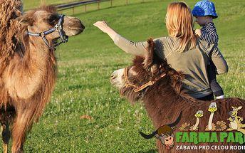 Celodenní návštěva Farmaparku a krmení zvířátek