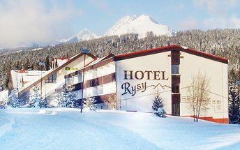 3–5denní pobyt s polopenzí pro 2 + 1 dítě v hotelu Rysy*** ve Vysokých Tatrách