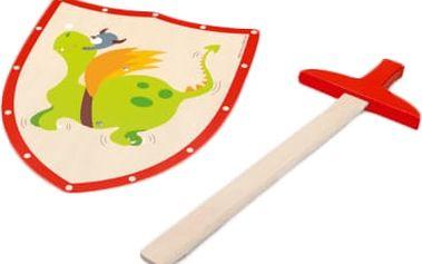 SCRATCH Dřevěný meč a štít Zelený drak