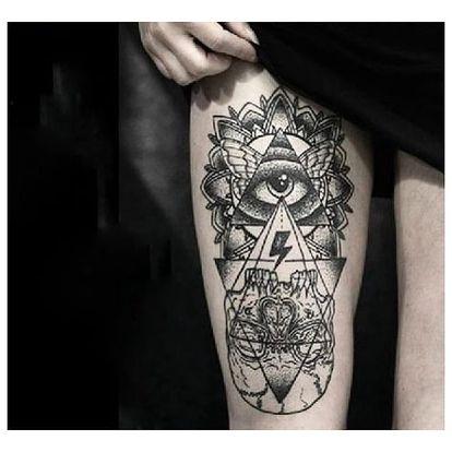 Dočasné tetování s mysteriozním motivem