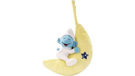 ANSMANN LED světlo Baby Šmoulové plyšák na spaní měsíc